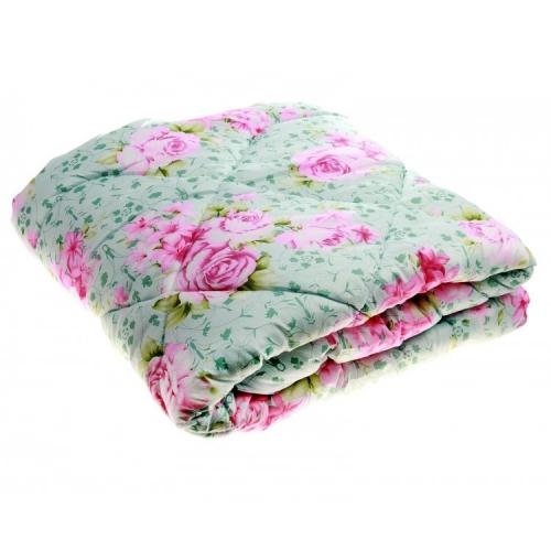 Одеяло из холлофайбера с розами