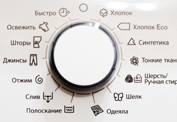 Режимы стирки и отжима в стиральной машине