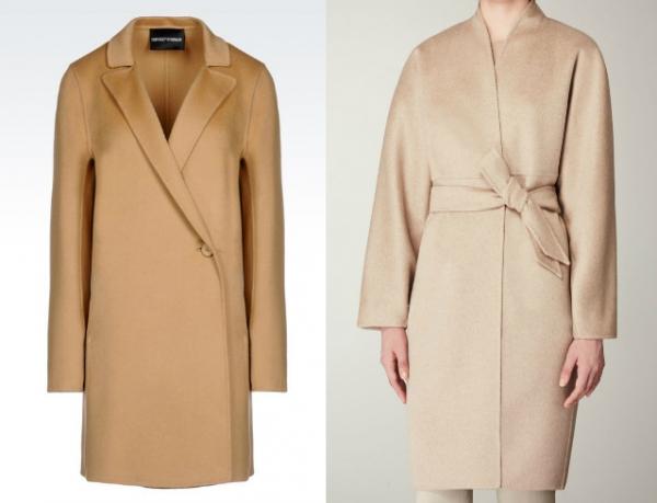 Светлое кашемировое пальто